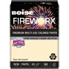 FIREWORX Premium Multi-Use Paper, 20lb, 8.5 x 11, Flashing Ivory, 500/Ream