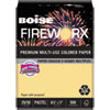FIREWORX Premium Multi-Use Colored Paper, 20lb, 8.5 x 11, Boomin' Buff, 500/Ream