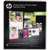 HP Celebration Photo Paper Sample Pack, Assorted Sizes, 11.5 mil, 12 Sheets/Pack HEWK0A21A