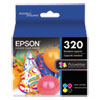 Epson® T320P PictureMate 400 Print Pack, Black/Cyan/Magenta/Yellow Ink & Photo Paper EPST320P