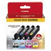 0390C005 (CLI-271) Ink, Black/Cyan/Magenta/Yellow