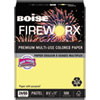 FIREWORX PREMIUM MULTI-USE PAPER, 24LB, 8.5 X 11, CRACKLING CANARY, 500/REAM