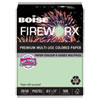 <strong>Boise®</strong><br />FIREWORX Premium Multi-Use Paper, 20lb, 8.5 x 11, Popper-mint Green, 500/Ream