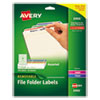 <strong>Avery®</strong><br />Removable File Folder Labels with Sure Feed Technology, 0.66 x 3.44, White, 30/Sheet, 25 Sheets/Pack