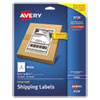 <strong>Avery®</strong><br />Shipping Labels w/ TrueBlock Technology, Inkjet Printers, 5.5 x 8.5, White, 2/Sheet, 25 Sheets/Pack