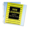 """C-Line® Side Loading Polypropylene Sheet Protector, Clear, 2"""", 11 x 8 1/2, 50/BX CLI62313"""