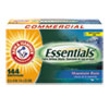 <strong>Arm & Hammer&#8482;</strong><br />Essentials Dryer Sheets, Mountain Rain, 144 Sheets/Box, 6 Boxes/Carton