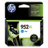 HP 952XL, (L0S61AN) High-Yield Cyan Original Ink Cartridge