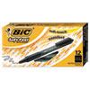 Soft Feel Retractable Ballpoint Pen, Fine 0.8mm, Black Ink/Barrel, Dozen
