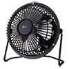 """Mini Personal Cooling Fan, 4"""", Steel, Black"""