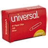 <strong>Universal®</strong><br />Paper Clips, Small (No. 1), Silver, 100 Clips/Box, 10 Boxes/Pack