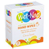 Wet-Nap® Antibacterial Hand Wipes, 7 1/5 x 5 3/8, White, Citrus Scent, 24/Bx, 6 Bx/Carton - D01524TK
