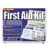 First Aid Only™ All-Purpose First Aid Kit, 34 Pieces, 3 3/4 x 4 3/4 x 1/2, Blue/White - FAO-112