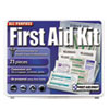 NON-RETURNABLE. All-Purpose First Aid Kit, 21 Pieces, 4 3/4 X 3 X 1/2, Blue/white