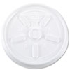 <strong>Dart®</strong><br />Vented Plastic Hot Cup Lids, 10 oz Cups, White, 1,000/Carton