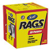 NON-RETURNABLE. Rags In A Box, Pop-Up Box, 10 X 12, White, 200/box, 8 Boxes Per Carton