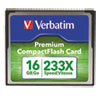 Premium CompactFlash Memory Card, 16GB, 233X Maximum Transfer Rate