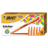 Brite Liner Highlighter, Chisel Tip, Fluorescent Orange, Dozen