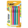 <strong>BIC®</strong><br />Brite Liner Retractable Highlighter, Chisel Tip, Assorted Colors, 5/Set