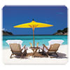 <strong>Fellowes®</strong><br />Recycled Mouse Pads, Caribbean Beach Design, 9 x 1/16