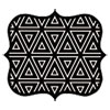 <strong>Fellowes®</strong><br />Designer Mouse Pads, Geometric Triangles, 9 x 8 x 3/16