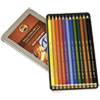 Polycolor Drawing Pencils, 3.8 mm, Open Tin Blister Pack, 12 Assorted Colors/Set