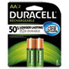 Rechargeable NiMH Batteries, AA, 2/PK