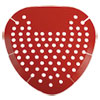 Urinal Screen, Cherry Fragrance, Red, 12/Box