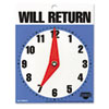 "Will Return Later Sign, 5"" x 6"", Blue"
