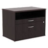 ALERA OPEN OFFICE SERIES LOW FILE CABIENT CREDENZA, 29.5W X 19.13D X 22.88H, ESPRESSO
