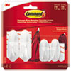 <strong>Command&#8482;</strong><br />General Purpose Designer Hooks, Small/Medium, 3 lb Cap, White, 4 Hooks and 4 Strips/Pack