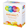 Wet-Nap® Hands and Face Cleansing Wipes, 6.45 x 8.45, Citrus, 24/Pack - D01524TKX