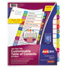 <strong>Avery®</strong><br />Customizable TOC Ready Index Multicolor Dividers, Jan-Dec, Letter