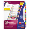 <strong>Avery®</strong><br />Customizable TOC Ready Index Multicolor Dividers, A-Z, Letter