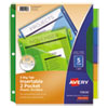 <strong>Avery®</strong><br />Insertable Big Tab Plastic 2-Pocket Dividers, 5-Tab, 11.13 x 9.25, Assorted, 1 Set