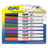 Low-Odor Dry-Erase Marker, Extra-Fine Needle Tip, Assorted Colors, 8/Set