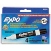 Low Odor Dry Erase Marker, Bullet Tip, Assorted, 4/Set