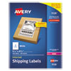 <strong>Avery®</strong><br />Shipping Labels w/ TrueBlock Technology, Laser Printers, 5.5 x 8.5, White, 2/Sheet, 100 Sheets/Box