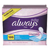 Always® Dailies Thin Liners, Regular, 120/Pack - 10796PK