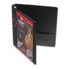 "Cardinal® Premier Easy Open ClearVue Locking Round Ring Binder, 1"" Cap, 11 x 8 1/2, Black CRD11101"