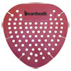 <strong>Boardwalk®</strong><br />Gem Urinal Screen, Lasts 30 Days, Red, Spiced Apple Fragrance, 12/Box