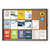 Quartet® Enclosed Indoor Cork Bulletin Board w/Sliding Glass Doors, 56 x 39, Silver Frame - EISC3956