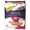 Always® Discreet Sensitive Bladder Protection Liners, Very Light, X-Long,44/Pk,3Pk/Ctn - 92724
