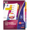 Avery® Ready Index® Customizable Table of Contents Multicolor Dividers