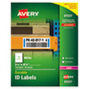 <strong>Avery®</strong><br />Durable Permanent ID Labels with TrueBlock Technology, Laser Printers, 3.25 x 8.38, White, 3/Sheet, 50 Sheets/Pack