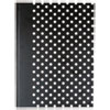 Universal® Casebound Hardcover Notebook, 10 1/4 x 7 5/8, Black with White Dots UNV66350