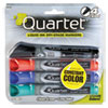 <strong>Quartet®</strong><br />EnduraGlide Dry Erase Marker, Broad Chisel Tip, Assorted Colors, 4/Set