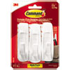 <strong>Command&#8482;</strong><br />General Purpose Hooks Multi-Pack, Large, 5 lb Cap, White, 3 Hooks and 6 Strips/Pack