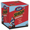 Shop Towels, POP-UP Box, Blue, 10 x 12, 200/Box, 8 Boxes/Carton