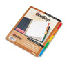 Cardinal® Traditional OneStep Index System, 5-Tab, 1-5, Letter, Multicolor, 5/Set CRD60518